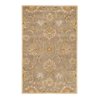 Jaipur Living Abers Handmade Floral Gray Beige Area Rug 8'X10' For Sale