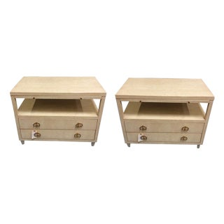 Asian Modern Bedside Tables - a Pair For Sale