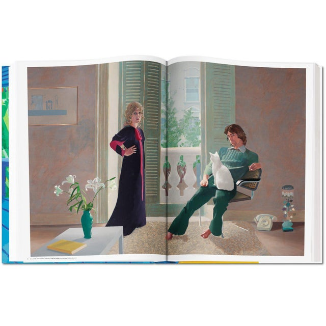 """Autographed David Hockney """"A Bigger Book"""" Painting Collection with Book Stand Collector's Edition For Sale - Image 11 of 13"""