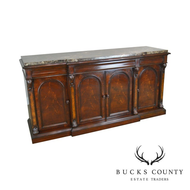 Henredon Mahogany Empire Style Marble Top Sideboard For Sale - Image 13 of 13