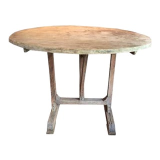 19th Century French Round Wine Tasting Table For Sale
