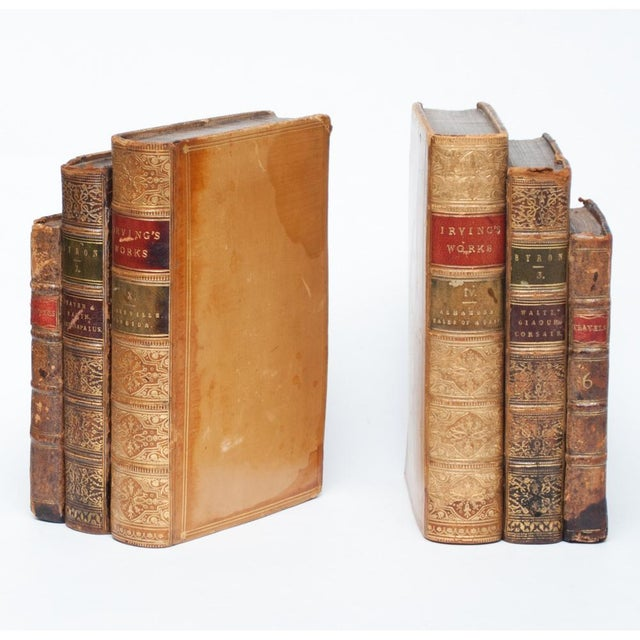 18th Century American Classical Antique Book Bookends - a Pair For Sale - Image 4 of 10