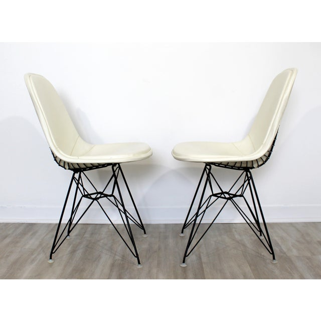 1960s Mid Century Modern Eames Herman Miller Eiffel Tower Dkr Side Chairs 60s - Set of 6 For Sale - Image 5 of 11