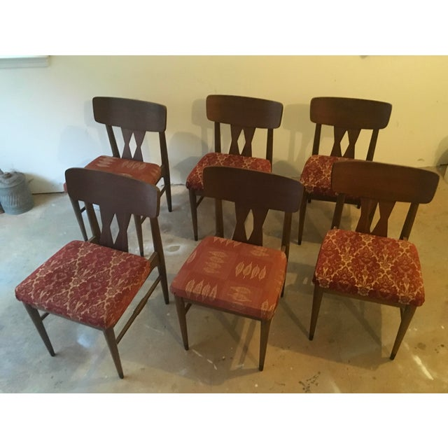 Vintage Modern Danish Style Dining Chairs - Set of 6 - Image 10 of 10