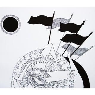 1968 Max Walter Svanberg Composition No. 8, Original Period Black & White Lithograph Preview
