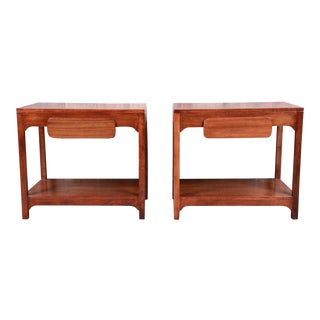 Edward Wormley for Drexel Precedent Mid-Century Modern Nightstands or End Tables, Newly Refinished For Sale