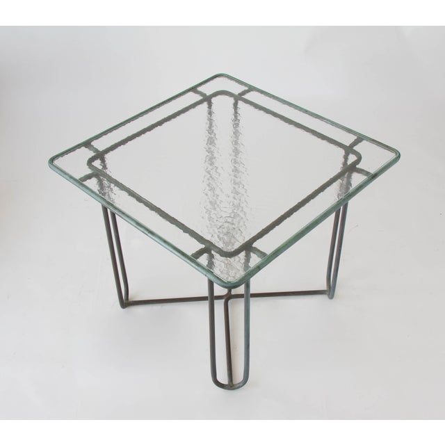 Mid-Century Modern Walter Lamb Square Patio Dining Table For Sale - Image 3 of 4