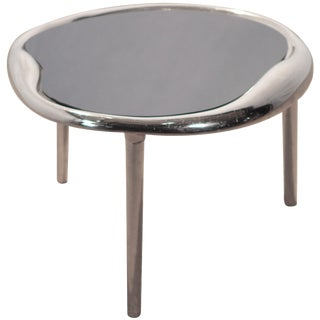 Modern Chrome End Table Style of Maria Pergay, 1980s For Sale