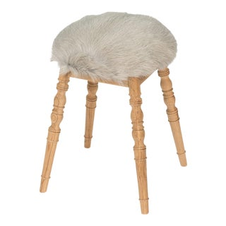 Sarreid LTD Light Gray 'Winoma' Stool For Sale