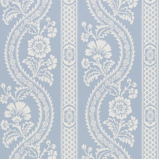 Schumacher Versailles Wallpaper in Blue For Sale