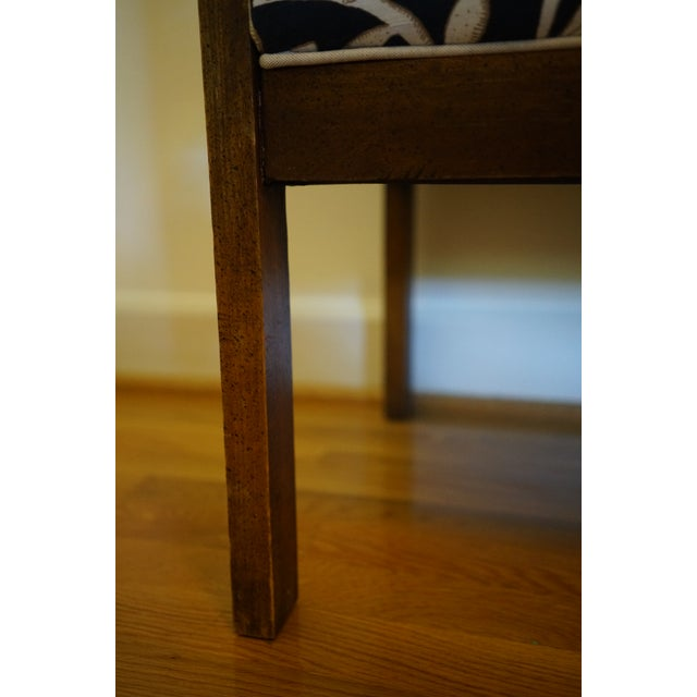 Mid 20th Century Mid-Century Robert Allen Upholstered Cane Settee For Sale - Image 5 of 13