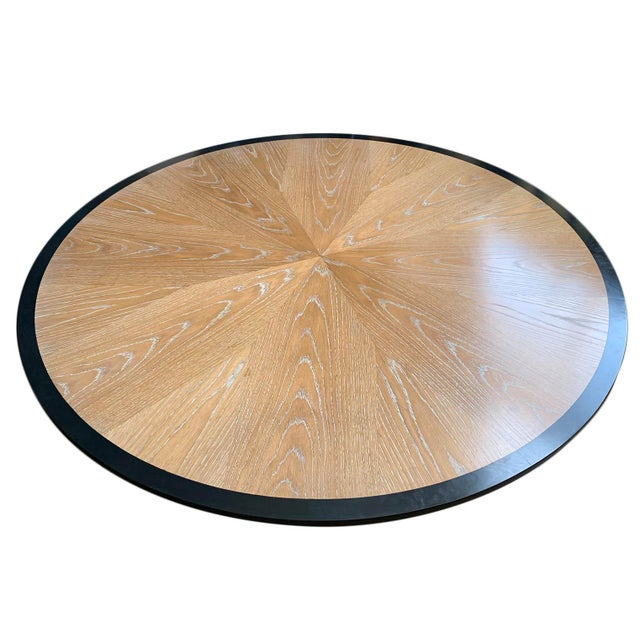 Contemporary Cerused Oak Dining Table For Sale - Image 3 of 7