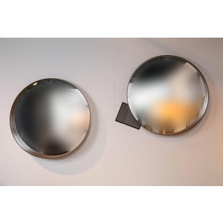 Mid-Century Danish Modern Round Mirrors - a Pair Preview