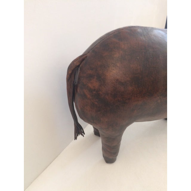 1960s Vintage Omersa for Abercrombie & Fitch Leather Elephant For Sale - Image 5 of 13
