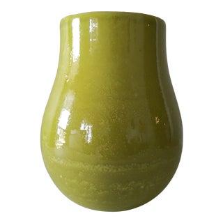 Vintage Italian Chartreuse Vase For Sale