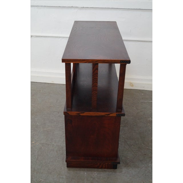 Asian Chinese Arts & Crafts Red Elm Wood Narrow Console For Sale - Image 3 of 10