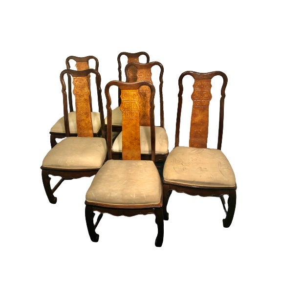 Universal Furniture Vintage Vintage Universal Furniture Chinoiserie Dining Set - Set of 10 For Sale - Image 4 of 8