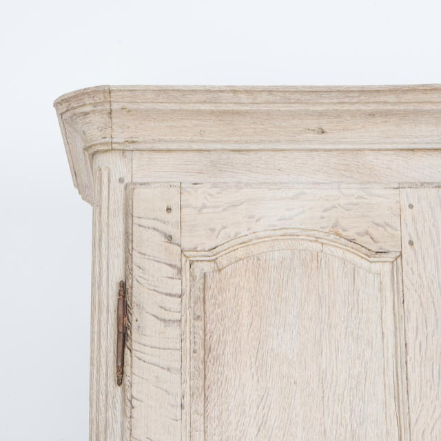 French Provincial Bleached Oak Buffet a Deux Corps For Sale In Greensboro - Image 6 of 13