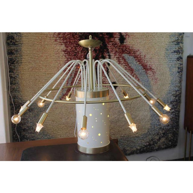 Mid-Century Modern Faust Hotel Cascading Chandelier For Sale - Image 3 of 10