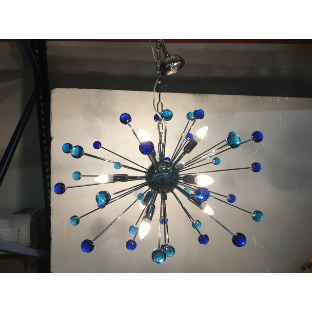 Contemporary Murano Glass Triedo Sputnik Chandelier For Sale - Image 9 of 11