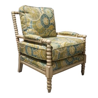 Miles Talbott Bankwood Spindle Shiloh Spool Lounge Chair For Sale