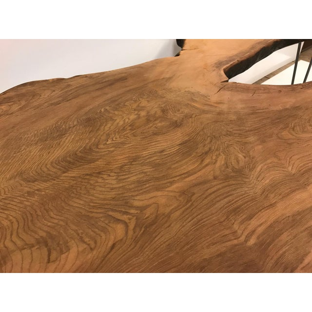 Large Organic Teak Live Edge Coffee Table - Image 4 of 7