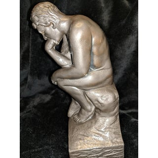 """""""The Thinker"""" by Esco Statue Sculpture Paperweight Bookend Decor Preview"""