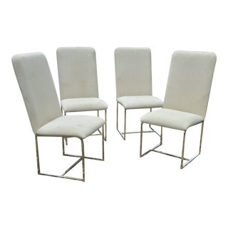 1980s Vintage Milo Baughman Dining Chairs - Set of 4