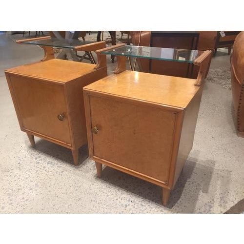 French Vintage Mid-Century Nightstands, France, a Pair For Sale - Image 3 of 8