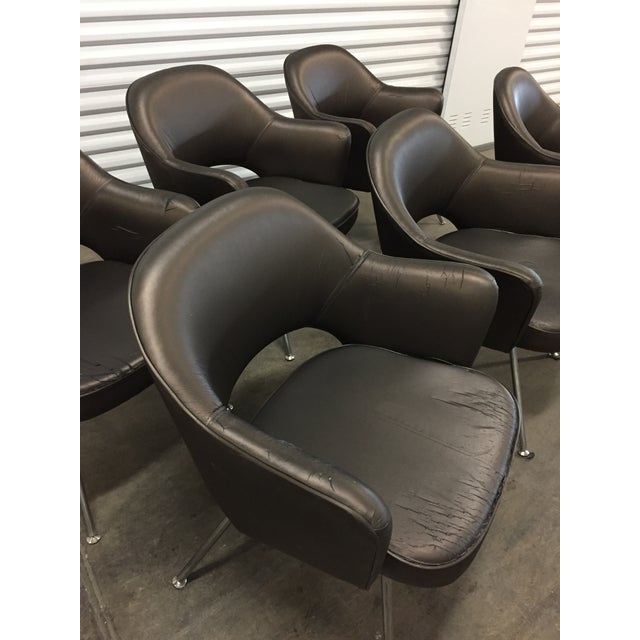 1975 Knoll Saarinen Executive Dining or Office Chairs - Set of 6 For Sale - Image 10 of 12