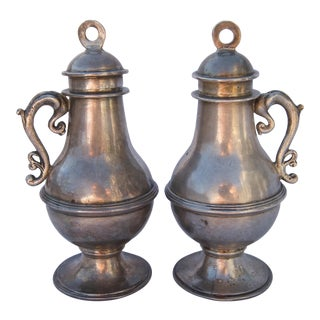 18th Century Sterling Silver Ewers - a Pair For Sale