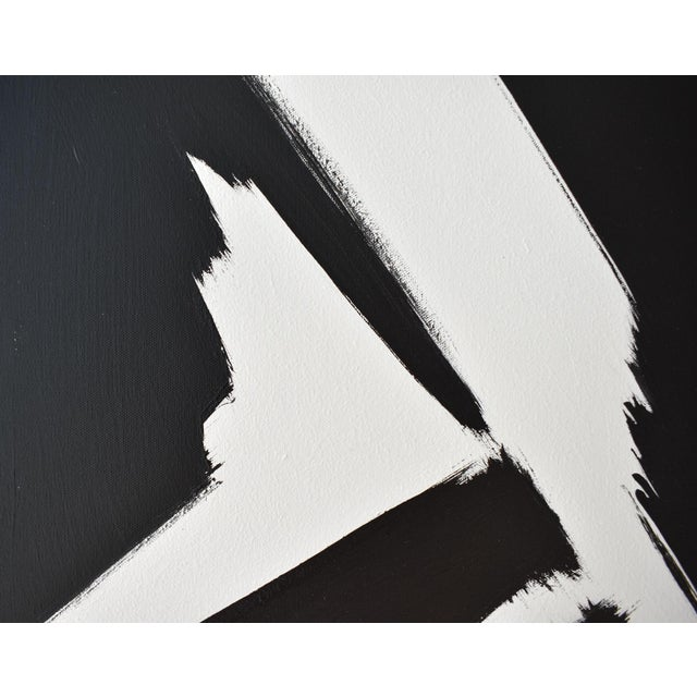 Abstract Black & White Slash - Frame Print 30x40 For Sale - Image 4 of 6