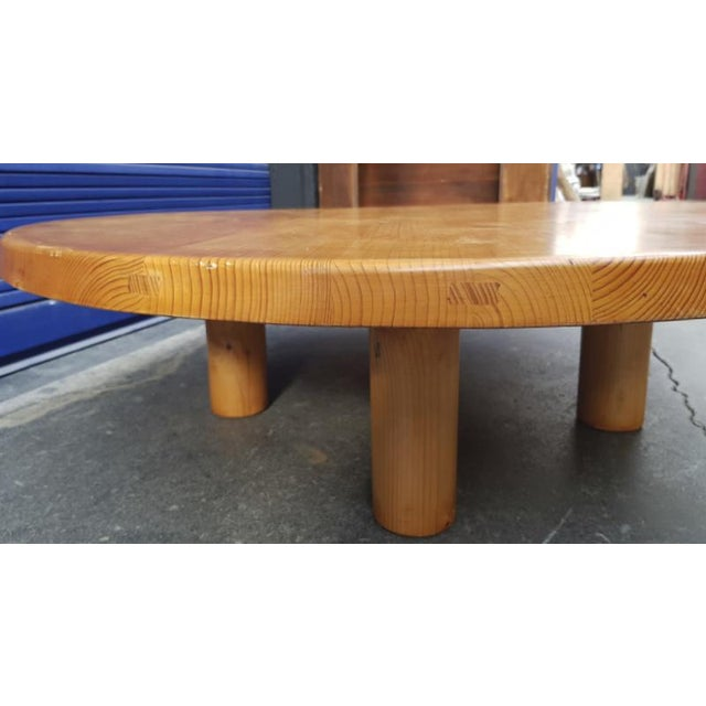Charlotte Perriand for Les Arcs stunning big pine coffee table.