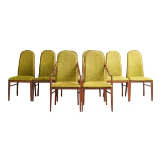 Milo Baughman Walnut Dining Chairs - Set of 8 For Sale
