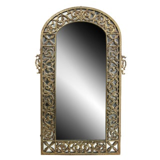 Oscar Bach Bronze Wall Mirror For Sale