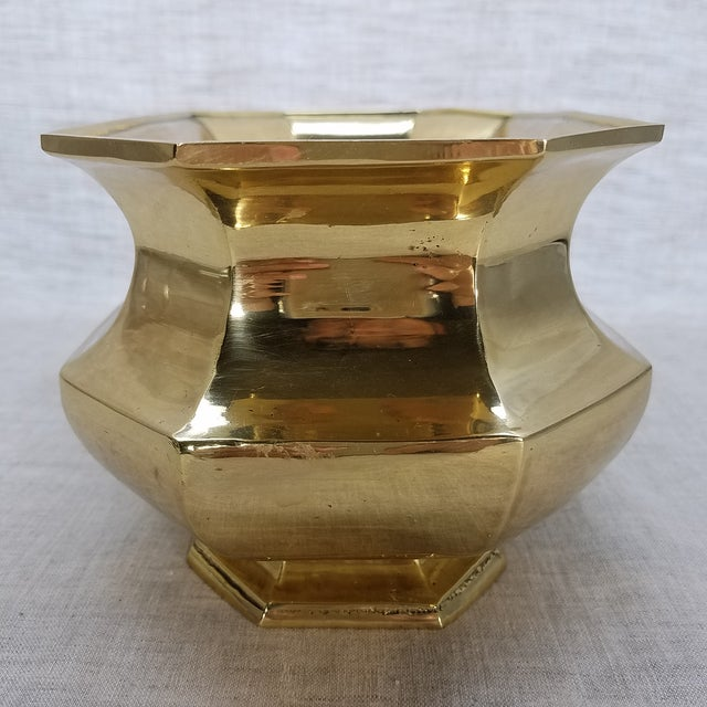 Solid Brass Cachepot Planter - Image 3 of 5