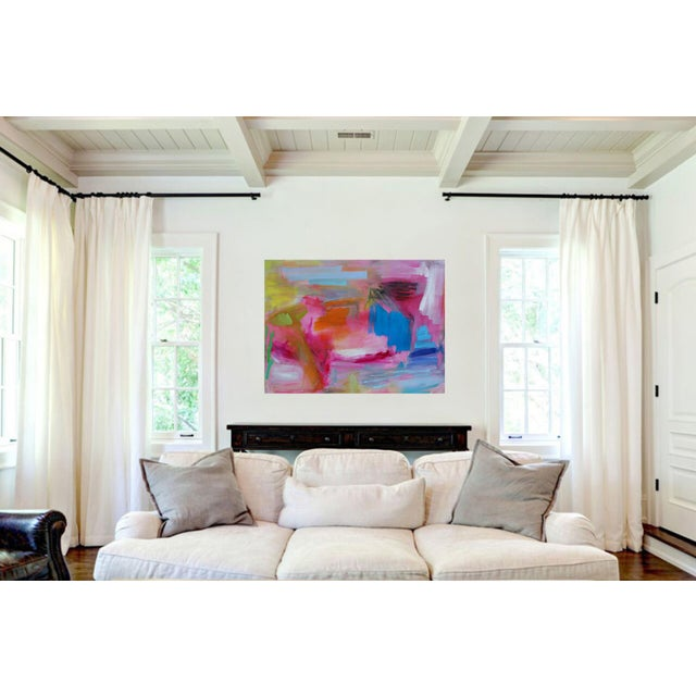 """Large Abstract Oil Painting by Trixie Pitts """"Florida Feeling"""" For Sale In Nashville - Image 6 of 10"""