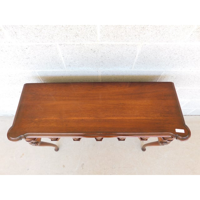 """Kittinger Georgian Style Mahogany Console Accent Table 38.25""""w For Sale - Image 11 of 13"""