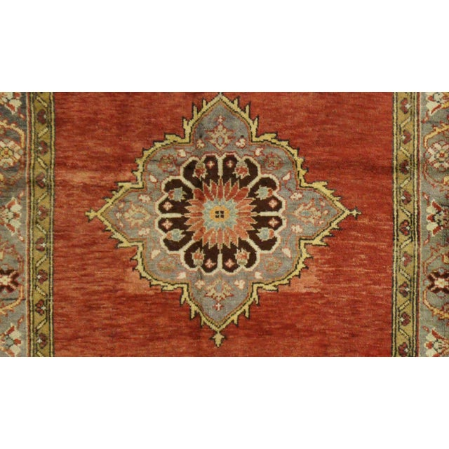 Islamic Vintage Turkish Oushak Rug - 5'x11' For Sale - Image 3 of 4