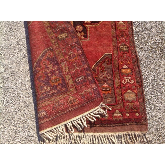 """1940s Vintage Hand Knotted Anatolian Rug - 4'2"""" x 13'5"""" - Image 8 of 8"""