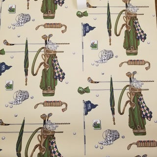 Brunschwig & Fils Par for the Course Wallpaper Roll For Sale