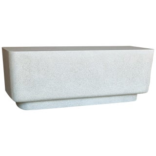 Cast Resin 'Block' Bench, Natural Stone Finish by Zachary A. Design For Sale