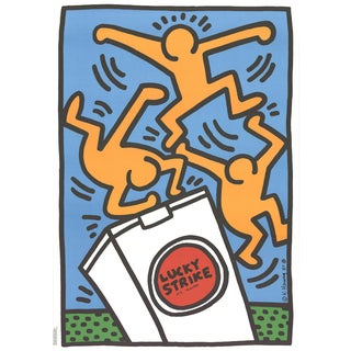 Keith Haring, Lucky Strike, Offset Lithograph, 1987 For Sale