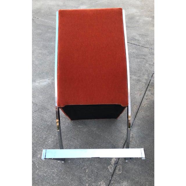 DIA - Design Institute America Milo Baughman Chrome Z Dining Chairs for Design Institute of America - Set of 6 For Sale - Image 4 of 12