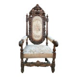 Image of Antique French Arm Chair For Sale