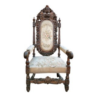 Antique French Arm Chair For Sale