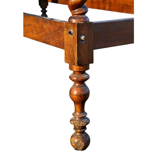 Red Portuguese Rosewood Tester Bed For Sale - Image 8 of 10