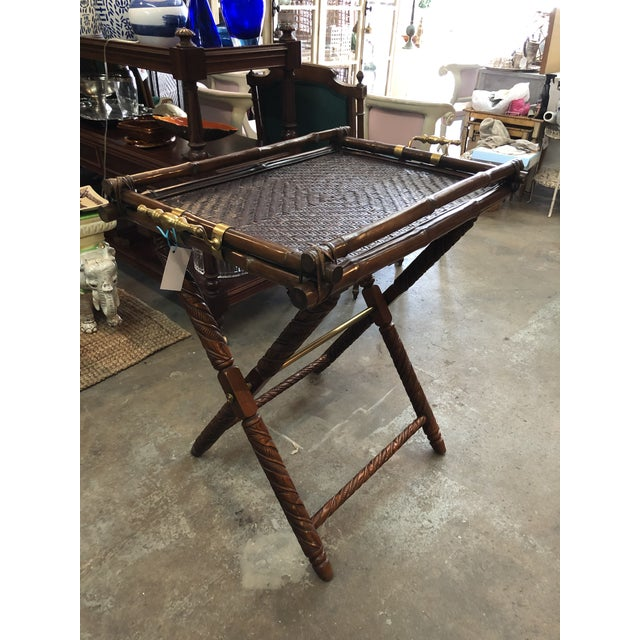 Ralph Lauren Folding Table For Sale - Image 9 of 9
