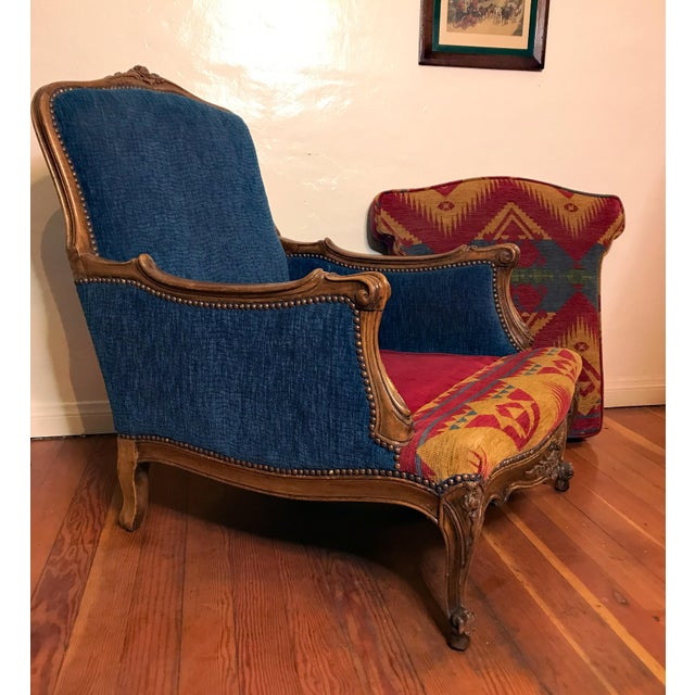 19th Century French Upholstered and Carved Armchair For Sale - Image 10 of 13