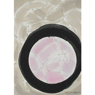 "Rob Delamater ""Desert Constellation Iv"" New Mexico, Abstract in Gouache and Ink W/ Pink, 2017 For Sale"